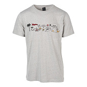 Майка Rip Curl Hyeroback Ss Tee, cement marle